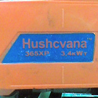 Бензопила Hushcvana 365XP - поддельный логотип