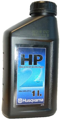 Фотография бутылки с настоящим моторным маслом Husqvarna HP