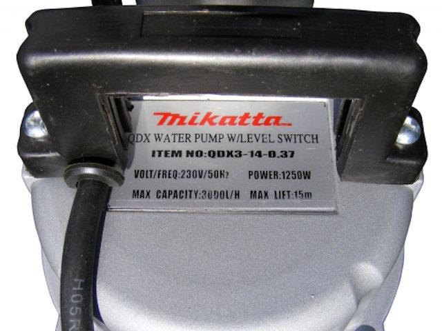 Водяной насос с этикеткой Mikatta